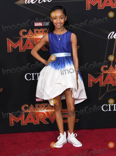 Akira Akbar Photo - 04 March 2019 - Hollywood California - Akira Akbar Captain Marvel Los Angeles Premiere held at El Capitan Theater Photo Credit Birdie ThompsonAdMedia