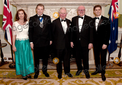 Brandy Photo - 12032020 - Prince Charles Prince of Wales (C) poses with (L-R) Hilary Russell the Lord Mayor of the City of London William Russell the High Commissioner for Australia George Brandis and guest as they attend a dinner in aid of the Australian bushfire relief and recovery effort at Mansion House in London Photo Credit ALPRAdMedia
