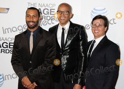 Aaron Walton Photo - 1 February 2013 - Los Angeles California - Omari Hardwick Aaron Walton Andrew Logan 44th NAACP Image Awards - Arrivals held at the Shrine Auditorium Photo Credit Byron PurvisAdMedia