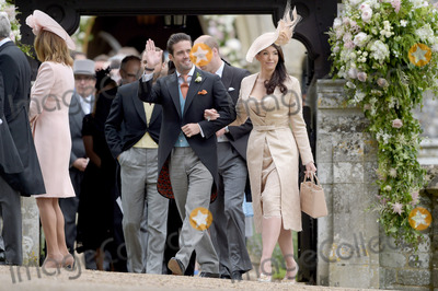 Prince William Photo - 20 May 2017 - Nina Mackie with her brother and best man Spencer Matthews also pictured James Middleton and Prince William Duke of Cambridge at the wedding of James Matthews and Pippa Middleton at St Marks Church Englefield Berkshire UK Photo Credit ALPRAdMedia