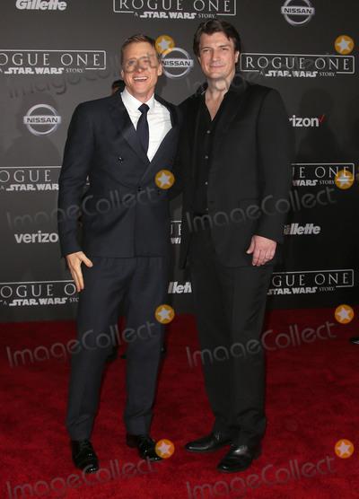 Alan Tudyk Photo - 10 December 2016 - Hollywood California - Alan Tudyk Nathan Fillion Rogue One A Star Wars Story World Premiere held at Pantages Theater Photo Credit F SadouAdMedia