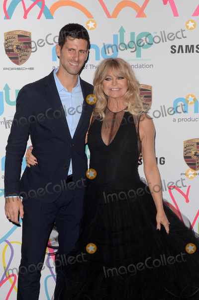 Novak Djokovic Photo - Novak Djokovic Goldie Hawnat the Hawn Foundations Goldies Love In For Kids Green Acres Estate Beverly Hills CA 11-03-17