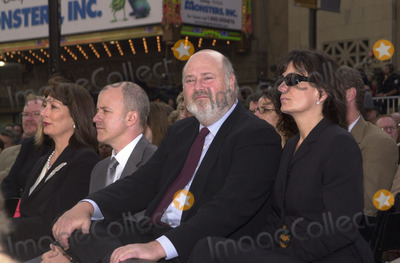 Angelica Huston Photo - Angelica Huston sits near Rob Reiner at the grand opening of Hollywood  Highland including the Kodak Theater Hollywood 11-09-01
