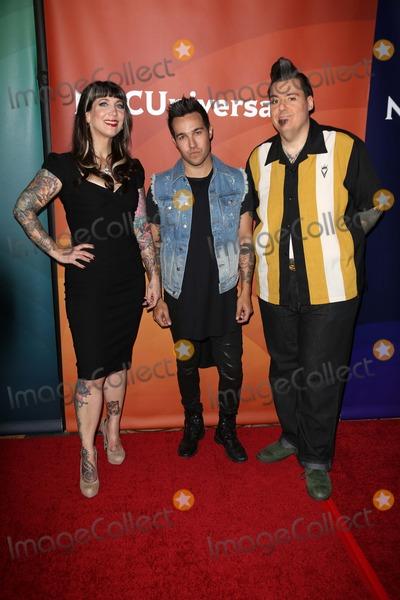 Hannah Aitchison Photo - Hannah Aitchison Pete Wentz and Joe Capobiancoat the 2013 NBC Universal Summer Press Day  Langham Huntington Hotel Pasadena CA 04-22-13