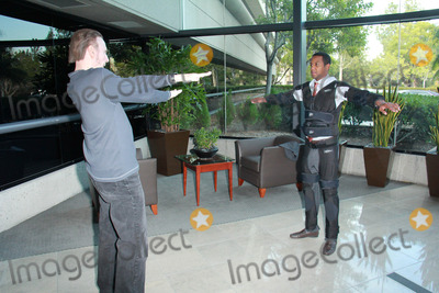Amiel Photo - Amiel Traynum Jim Fostervetting the new Gravity Suit for Injured Athletes Private Location Los Angeles CA 01-08-15