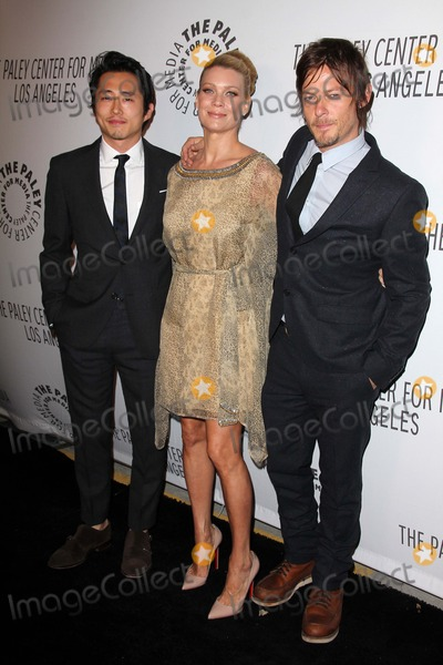 Norman Reedus Photo - Steven Yeun Laurie Holden Norman Reedusat the Paley Center Annual Los Angeles Benefit The Lot West Hollywood CA 10-22-12