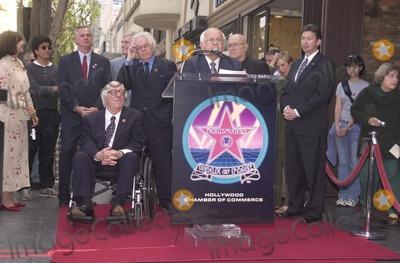 Ray Bradbury Photo - Johnny Grant introduces Ray Bradbury at the Star on the Walk of Fame ceremony 04-01-02