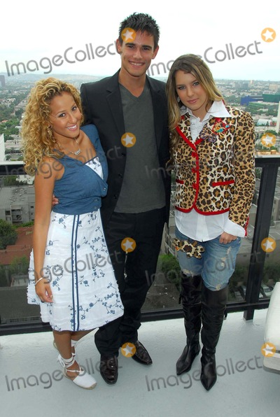 Adrienne Bailon Photo - Adrienne Bailon with Golan Yosef and Belinda Peregrinat The Cheetah Girls 2 interview session The Mondrian Hotel West Hollywood CA 08-01-06