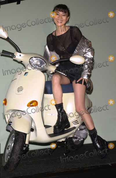 Bai Ling Photo -  Bai Ling at the Vespa Fashion Extravaganza where Piaggio USA introduces fashion accessories for the return of the classic Italian motor scooter Hollywood Blvd 06-24-01