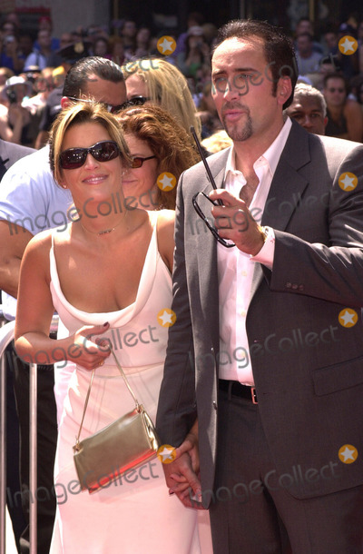 Nicolas Cage Photo -  Lisa Marie Presley and Nicolas Cage at the handprintfootprint ceremony for Nicolas Cage at the Chinese Theater Hollywood 08-14-01