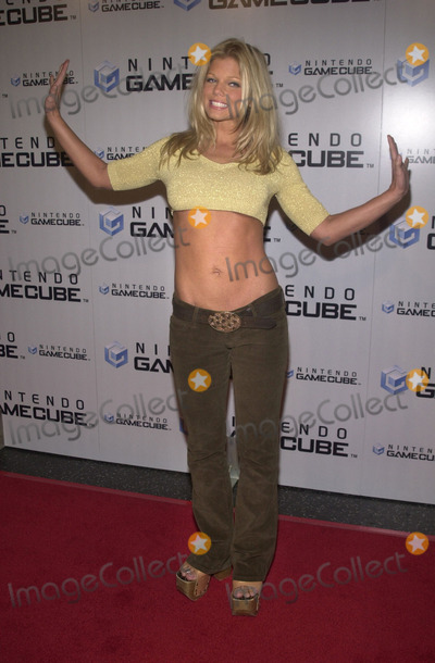 Donna DErrico Photo -  DONNA DERRICO at the launch party for the new Nintendo Game Cube system sponsored by MTV in Hollywood 10-03-01
