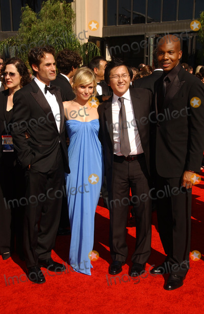 Adrian Pasdar Photo - Adrian Pasdar and Kristen Bell with Masi Oka and Leonard Robertsarriving at the 59th Annual Primetime Emmy Awards The Shrine Auditorium Los Angeles CA 09-16-07