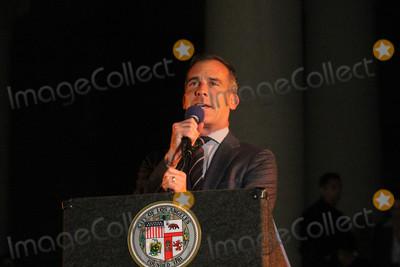 Adam West Photo - Eric Garcettiat the Bat Signal Lighting Ceremony to honor Adam West Los Angeles City Hall Los Angeles CA 06-15-17