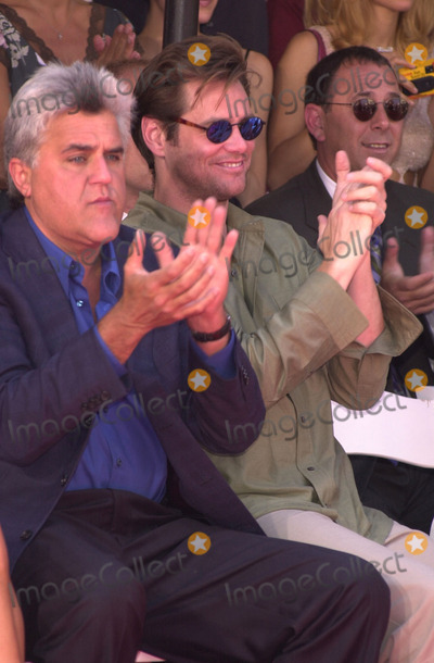 Nicolas Cage Photo -  Jay Leno and Jim Carrey at the handprintfootprint ceremony for Nicolas Cage at the Chinese Theater Hollywood 08-14-01