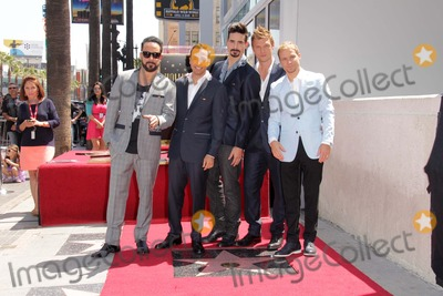 AJ MCLEAN Photo - AJ McLean Howie Dorough Kevin Richardson Nick Carter Brian Littrellat the Backstreet Boys Star on the Walk of Fame Hollywood CA 04-22-13