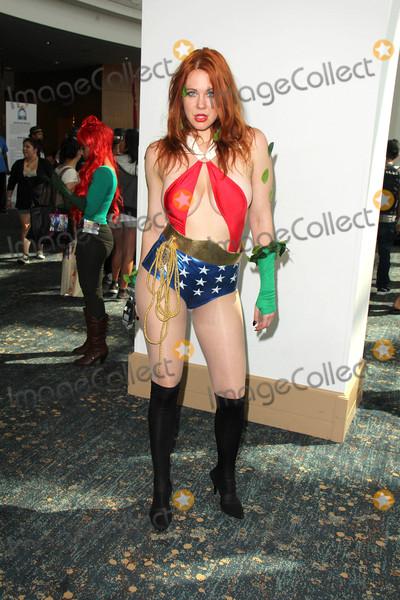 Vampirella Photo - Maitland Wardwears a Mash-Up costume which combines Vampirella Wonder Woman Poison Ivy and Star Trek at Long Beach Comic Con Day 2 Long Beach Convention Center Long Beach CA 09-13-15