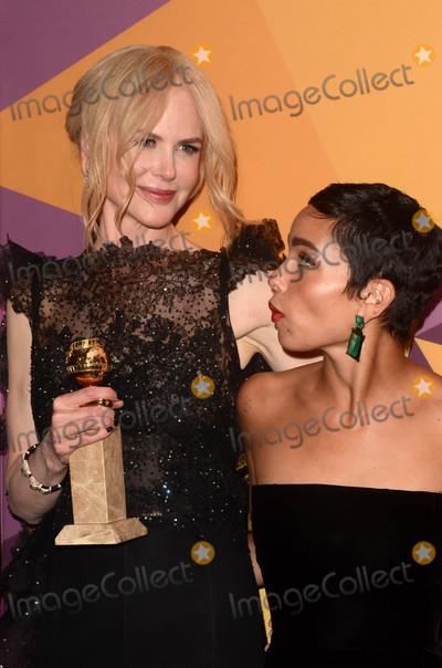 Nicole Kidman Photo - Nicole Kidman Zoe Kravitzat the HBO Golden Globes After Party Beverly Hilton Beverly Hills CA 01-07-18