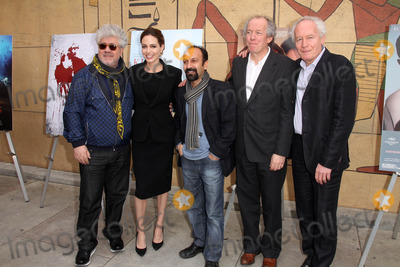 Asghar Farhadi Photo - Pedro Almodovar Angelina Jolie Asghar Farhadi Jean-Pierre Dardenne Luc Dardenneat the Golden Globe Foreign-Language Nominees Seminar Egyptian Theater Hollywood CA 01-14-12