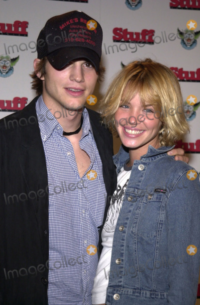 Ashley Scott Photo - Ashton Kutcher and Ashley Scott at Stuff Magazines Stuffland Party at the Pacific Park Santa Monica Pier 07-18-01