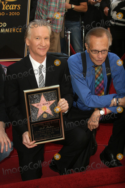 Bill Maher Photo - Bill Maher and Larry King at the induction ceremony for Bill Maher into the Hollywood Walk of Fame Hollywood CA 09-14-10