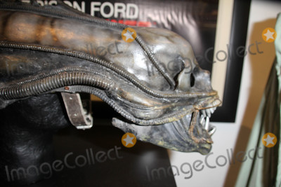 Hr Giger Photo - Alien HR Giger Alien headat the Profiles In History Multi-Million Dollar Hollywood Memorabilia Auction Preview featuring the original Slave Leia bikini from Return of the Jedi and many other famous items  The auction takes place Sept 29 Sept 30 and Oct 1st (profilesinhistorycom)  Profiles In History Headquarters Calabasas CA 09-25-15