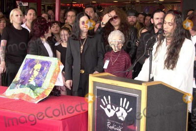 Randy Rhoads Photo - Stew Herrera speaks as Randy Rhoads family and friends watch at the ceremony posthumously inducting guitarist Randy Rhodes into Hollywoods Rockwalk on Sunset Boulevard Hollywood CA 03-18-04