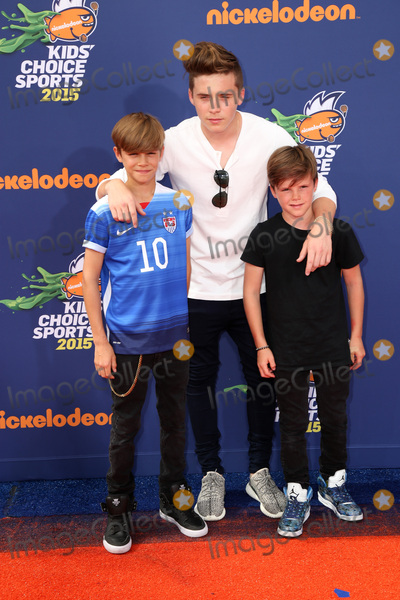 Brooklyn Beckham Photo - SAN DIEGO - JUL 16  Romeo Beckham Brooklyn Beckham Cruz Beckham at the 2015 Kids Choice Sports at the UCLAs Pauley Pavilion on July 16 2015 in Westwood CA