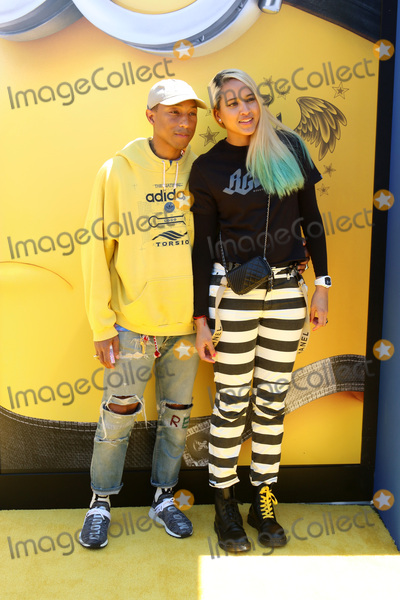 Helen Lasichanh Photo - LOS ANGELES - JUN 24  Pharrell Williams Helen Lasichanh at the Despicable Me 3 Premiere at the Shrine Auditorium on June 24 2017 in Los Angeles CA