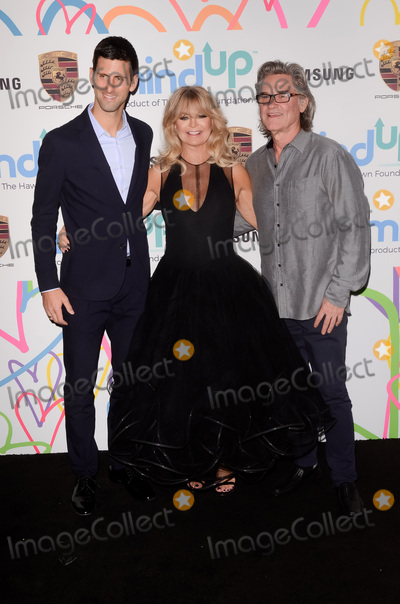 Goldie Photo - LOS ANGELES - OCT 3  Novak Djokovic Goldie Hawn Kurt Russell at the Goldies Love In For Kids at the Green Acres Estate on October 3 2017 in Beverly Hills CA