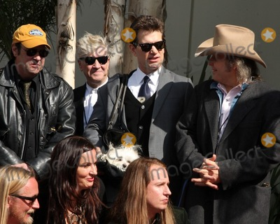 Roy Orbison Photo - Dan Akryod David Lynch Chris Isaak  Dwight YoakamHollywood Walk of Fame Star Ceremony for Roy Orbison Capitol Records buildingLos Angeles CAJanuary 29 2010