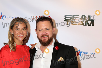 AJ Buckley Photo - LOS ANGELES - SEP 26  Abigail Ochse AJ Buckley at the Seal Team Season 2 Premiere Screening at the American Legion Post 43 on September 26 2018 in Los Angeles CA