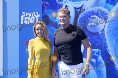 Hayley Roberts Photo - LOS ANGELES - SEP 22  Hayley Roberts David Hasselhoff at the Small Foot Premiere at the Village Theater on September 22 2018 in Westwood CA