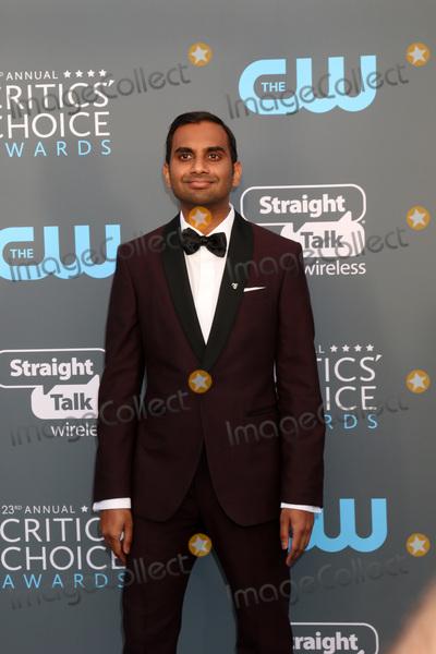 Aziz Ansari Photo - LOS ANGELES - JAN 11  Aziz Ansari at the 23rd Annual Critics Choice Awards at Barker Hanger on January 11 2018 in Santa Monica CA