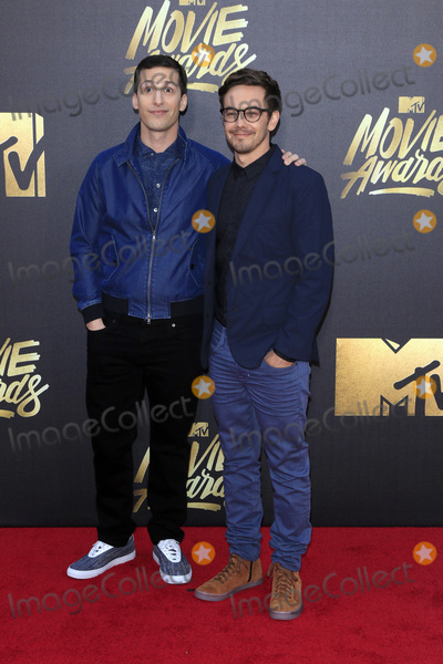 Andy Samberg Photo - LOS ANGELES - APR 9  Andy Samberg Jorma Taccone at the 2016 MTV Movie Awards Arrivals at the Warner Brothers Studio on April 9 2016 in Burbank CA