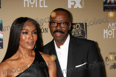 Courtney B Vance Photo - LOS ANGELES - OCT 3  Angela Bassett Courtney B Vance at the American Horror Story Hotel Premiere Screening at the Regal 14 Theaters on October 3 2015 in Los Angeles CA