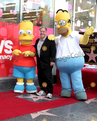 Homer Simpson Photo - LOS ANGELES - FEB 14  Bart Simpson Matt Groening Homer Simpson at the Rick Baker Star Ceremony on the Hollywood Walk of Fame on February 14 2012 in Los Angeles CA