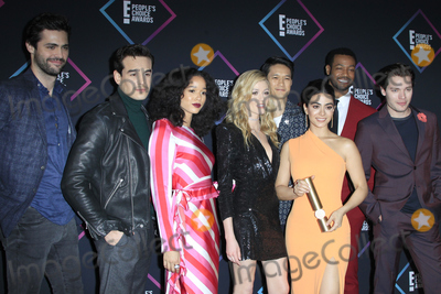 Harry Shum Photo - LOS ANGELES - NOV 11  Cast of Shadow Hunters (L-R)- Matthew Daddario Alberto Rosende Alisha Wainwright Katherine McNamara Harry Shum Jr Emeraude Toubia Isaiah Mustafa and Dominic Sherwood at the Peoples Choice Awards 2018 at the Barker Hanger on November 11 2018 in Santa Monica CA