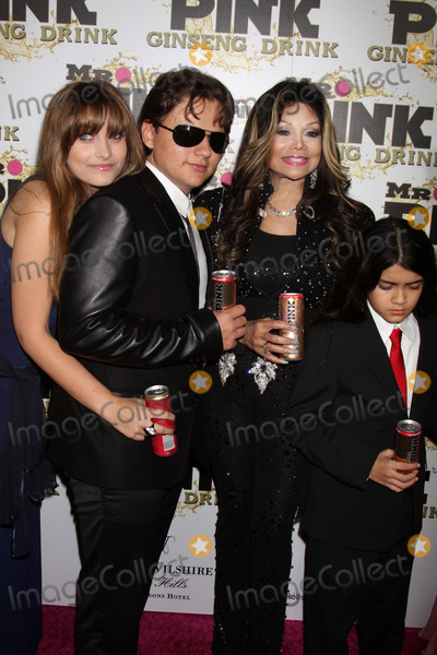 Prince Michael Jackson Photo - LOS ANGELES - OCT 11  Paris Jackson Prince Michael Jackson LaToya Jackson Blanket Jackson arrives at the Mr Pink Energy Drink Launch at Beverly Wilshire Hotel on October 11 2012 in Beverly Hills CA