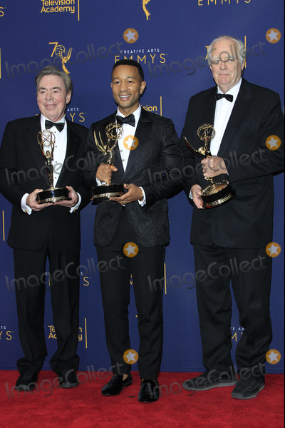 Andrew Lloyd Webber Photo - LOS ANGELES - SEP 9  Sir Andrew Lloyd Webber John Legend Tim Rice at the 2018 Creative Arts Emmy Awards - Day 2 - Press Room at the Microsoft Theater on September 9 2018 in Los Angeles CA