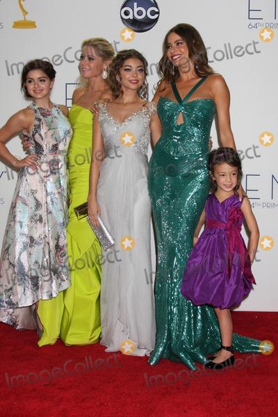 Aubrey Anderson Photo - LOS ANGELES - SEP 23  Ariel Winter Julie Bowen Sarah Hyland Sofia Vergara Aubrey Anderson-Emmons in the press room of the 2012 Emmy Awards at Nokia Theater on September 23 2012 in Los Angeles CA