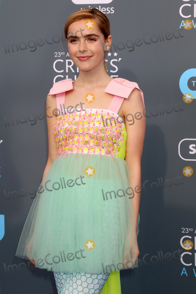 Kiernan Shipka Photo - LOS ANGELES - JAN 11  Kiernan Shipka at the 23rd Annual Critics Choice Awards at Barker Hanger on January 11 2018 in Santa Monica CA