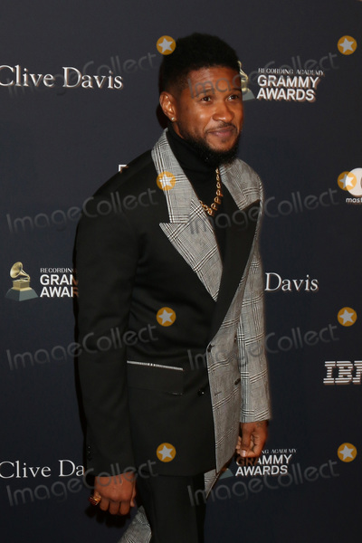 Usher Photo - LOS ANGELES - JAN 25  Usher at the 2020 Clive Davis Pre-Grammy Party at the Beverly Hilton Hotel on January 25 2020 in Beverly Hills CA