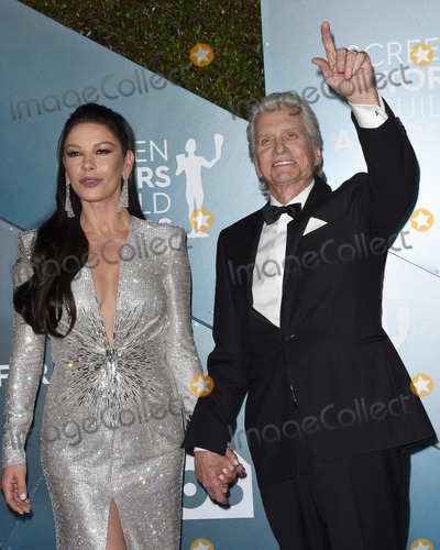 Michael Douglas Photo - LOS ANGELES - JAN 19  Catherine Zeta-Jones Michael Douglas at the 26th Screen Actors Guild Awards at the Shrine Auditorium on January 19 2020 in Los Angeles CA