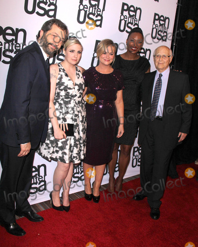 Lena Dunham Photo - LOS ANGELES - NOV 11  Lena Dunham Judd Apatow Amy Poehler Aisha Tyler Norman Lear at the PEN Center USA 24th Annual Literary Awards at the Beverly Wilshire Hotel on November 11 2014 in Beverly Hills CA
