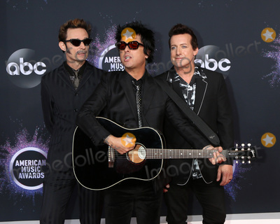Green Day Photo - LOS ANGELES - NOV 24  Green Day - Mike Dirnt Billie Joe Armstrong Tre Cool at the 47th American Music Awards - Arrivals at Microsoft Theater on November 24 2019 in Los Angeles CA