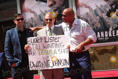 Toby Emmerich Photo - LOS ANGELES - MAY 19  Brad Peyton Dwayne Johnson Toby Emmerich at the Dwayne Johnson Hand and Foot Print Ceremony at the TCL Chinese Theater on May 19 2015 in Los Angeles CA