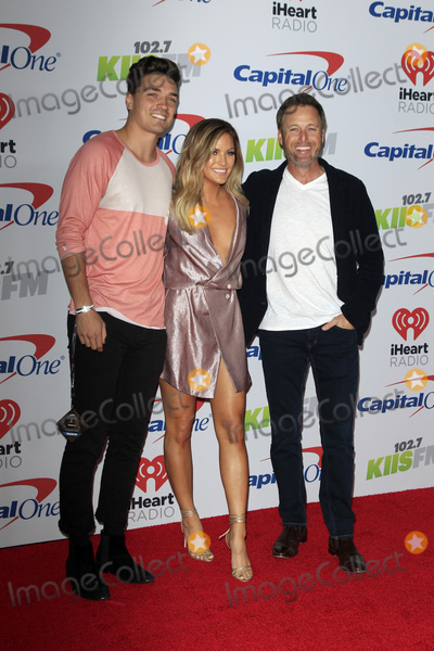 Becca Tilley Photo - LOS ANGELES - DEC 2  Dean Unglert Becca Tilley Chris Harrison at the Jingle Ball 2017 at the Forum on December 2 2017 in Inglewood CA