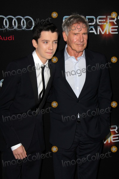 Asa Butterfield Photo - LOS ANGELES - OCT 28  Asa Butterfield Harrison Ford at the Enders Game Los Angeles Premiere at TCL Chinese Theater on October 28 2013 in Los Angeles CA