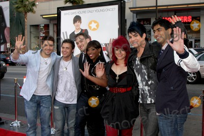 Allison Iraheta Photo - Danny Gokey Kris Allen Matt Giraud Lil Rounds Allison Iraheta Adam Lambert and Anoop Desai (Amerian Idol Top 7 in 2009)  arriving at the 17 Again Premiere at Graumans Chinese Theater in Los Angeles CA on April 14 2009