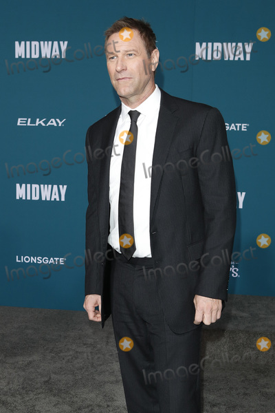 Aaron Eckhart Photo - LOS ANGELES - NOV 5  Aaron Eckhart at the Midway Premiere at the Village Theater on November 5 2019 in Westwood CA